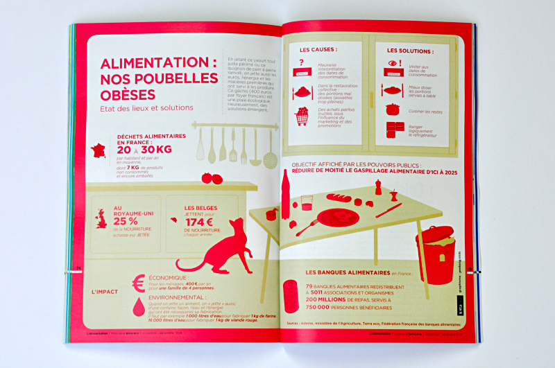 inphographie terra eco dechets alimentaires