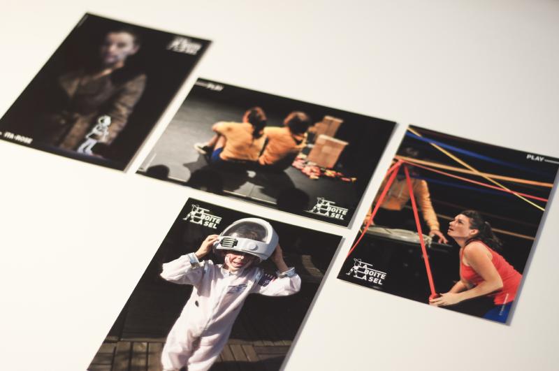 Cartes postales de la compagnie de théâtre, musique et arts de la marionnette à Bordeaux