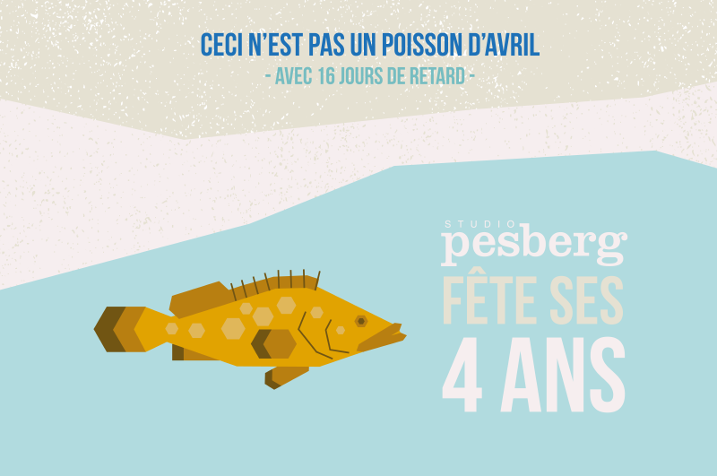 poisson d'avril - infographie - flat design